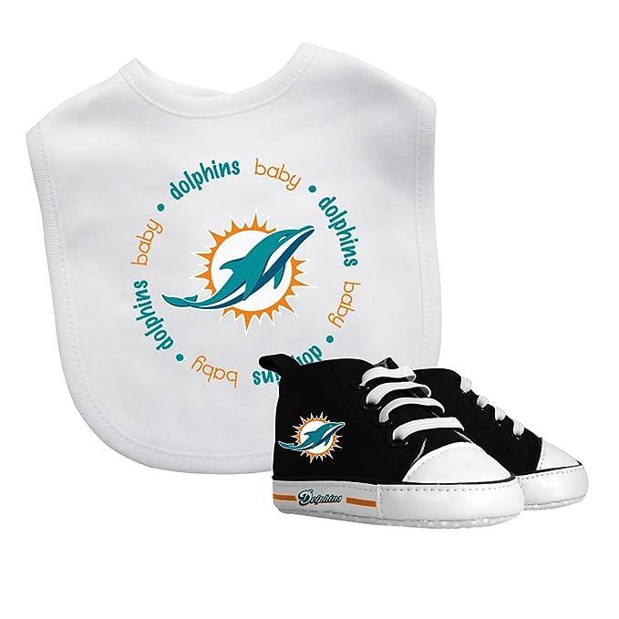 45788f0d Baby Fanatic Bib/ Prewalker Gift Set- Miami Dolphins