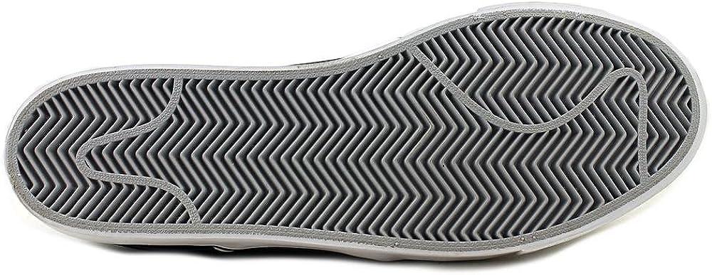 Nike Mens Zoom Stefan Janoski L Black//White Wolf Grey Low Top Leather Skateboarding Shoe 11M