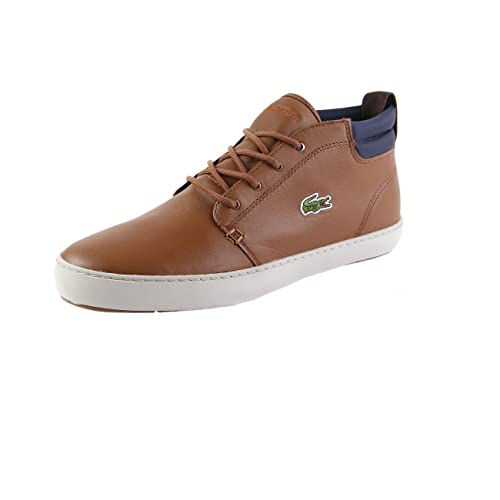 a20b519b490620 Lacoste Ampthill Terra 317 1 Cam High Leather Trainers In Brown 734CAM0002  078  UK 6
