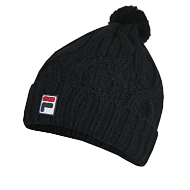 Fila Calapai Bobble Hat Black All Blk  Amazon.co.uk  Clothing b3bdcdf2531