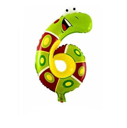 Amazon Hot Sale 1Pcs Animal Number Foil Balloon Wedding Happy Birthday Party Decoration Balloons Kids Babys Childrens Toys Gifts Snake Style