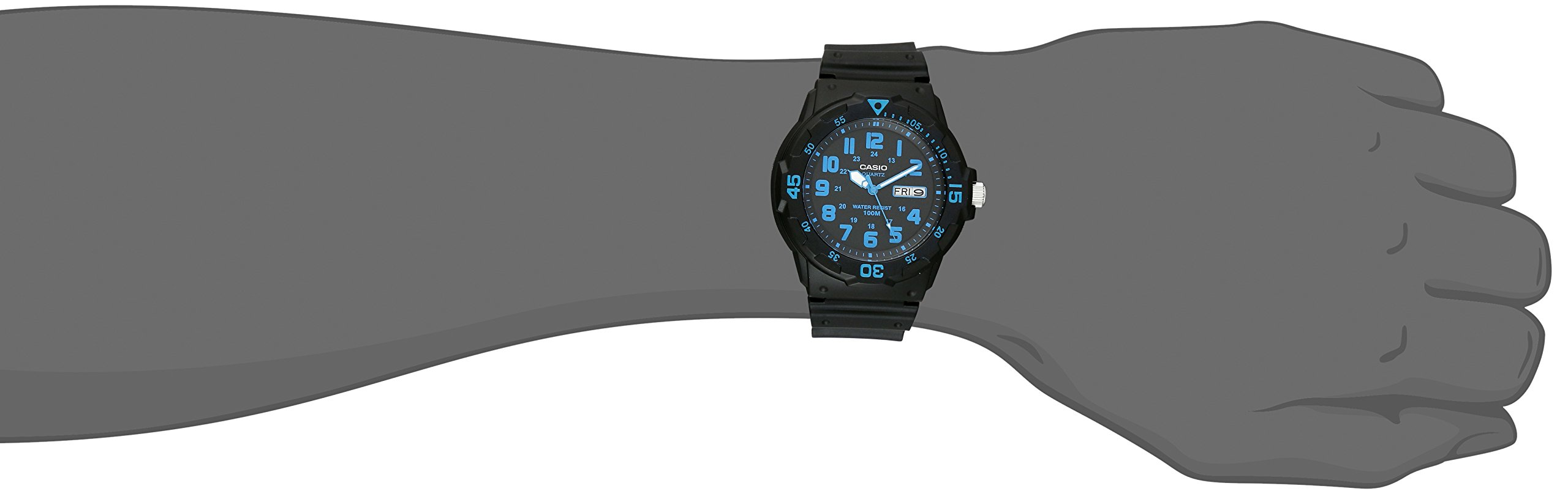Casio Unisex MRW200H-2BV Neo-Display Black Watch with Resin Band by Casio (Image #2)