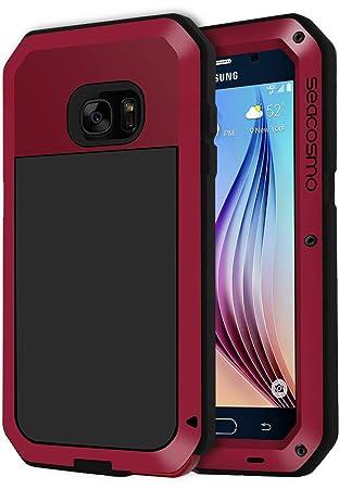 seacosmo Funda Compatible con Galaxy S6, [Anti Choque] Carcasa con de Protector de Pantalla Anti-Arañazos [Rugged Armour] Protección Completa del ...