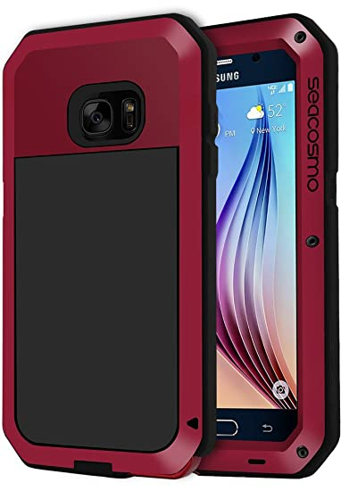 info for 9f40b bc337 Seacosmo Shckproof Case for Galaxy S6 Case with Built-in Screen Protector,  360 Full Body Protective Cover, Military Grade Rugged Heavy Duty Shell, ...