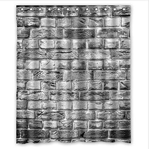 Amazon Classic Brick Wall Patternstone And Rock Art Polyester Fabric Custom Home Decor Shower Curtain 60 X 72 Clothing