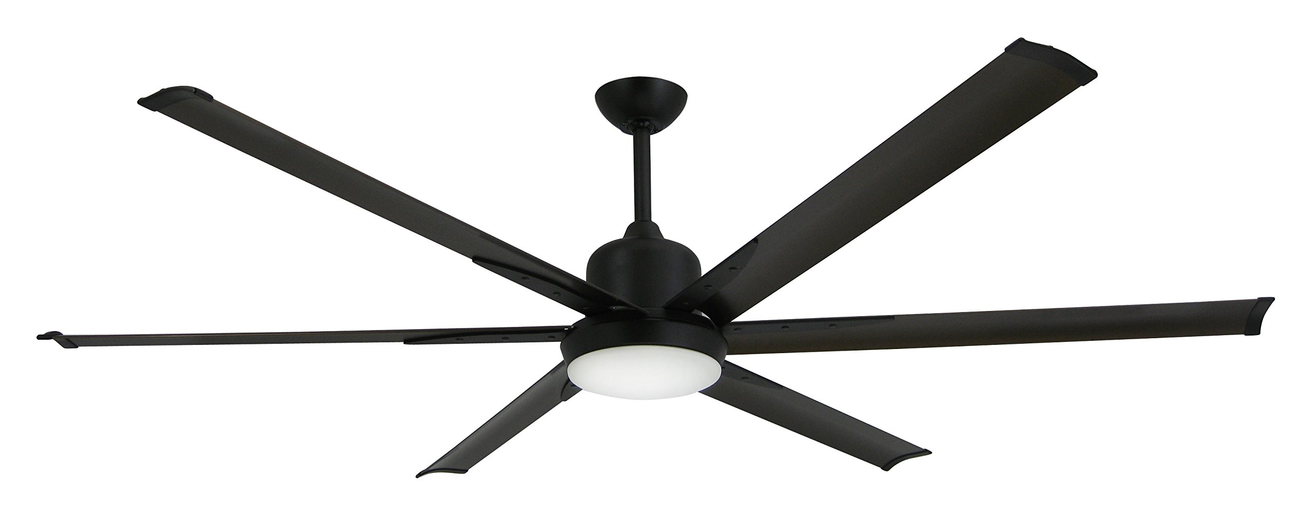 TroposAir Titan Oil Rubbed Bronze Large Industrial Ceiling Fan with DC-Motor, 72'' Extruded Aluminum Blades, Integrated Light and Remote by TroposAir by Dan's Fan City