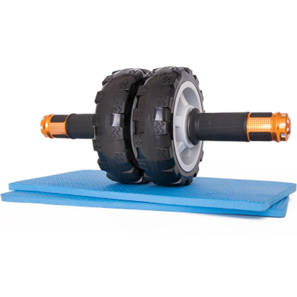 Rueda de ejercicio y la rueda de la aptitud del rodillo de Ab con las manijas fáciles del apretón y mudo para el entrenamiento abdominal