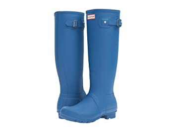 Hunter Womens Original Tall Wellington Waterproof Winter Snow Rain Boots -  Azure - 6