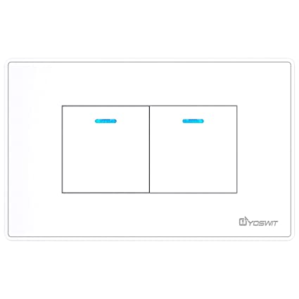 Bluetooth Smart Multi-way Switch 2 Gangs (Socket 118), No Neutral ...