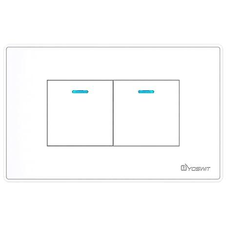 Bluetooth Smart Multi-way Switch 2 Gangs (Socket 118), No Neutral ...