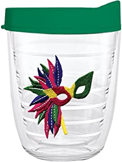product image for Smile Drinkware USA-MARDI GRAS MASK 12oz Tritan Insulated Tumbler With Lid and Straw