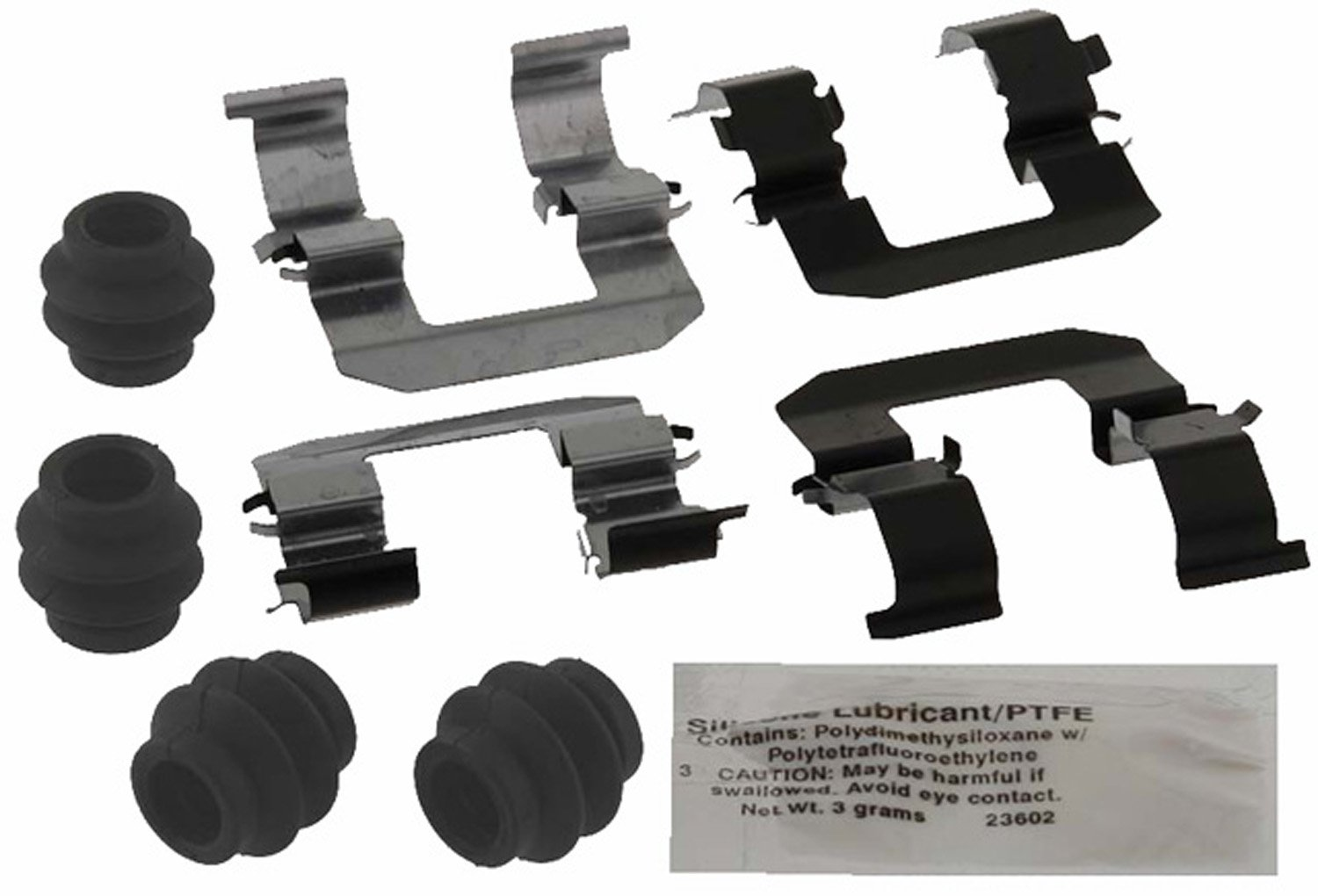 ACDelco 18K1903X Professional Rear Disc Brake Caliper Hardware Kit with Clips, Seals, and Lubricant