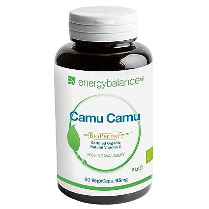 Camu Camu orgánico | Vitamina C orgánica + BioPerine 95mg | Alta biodisponibilidad| Calidad Premium