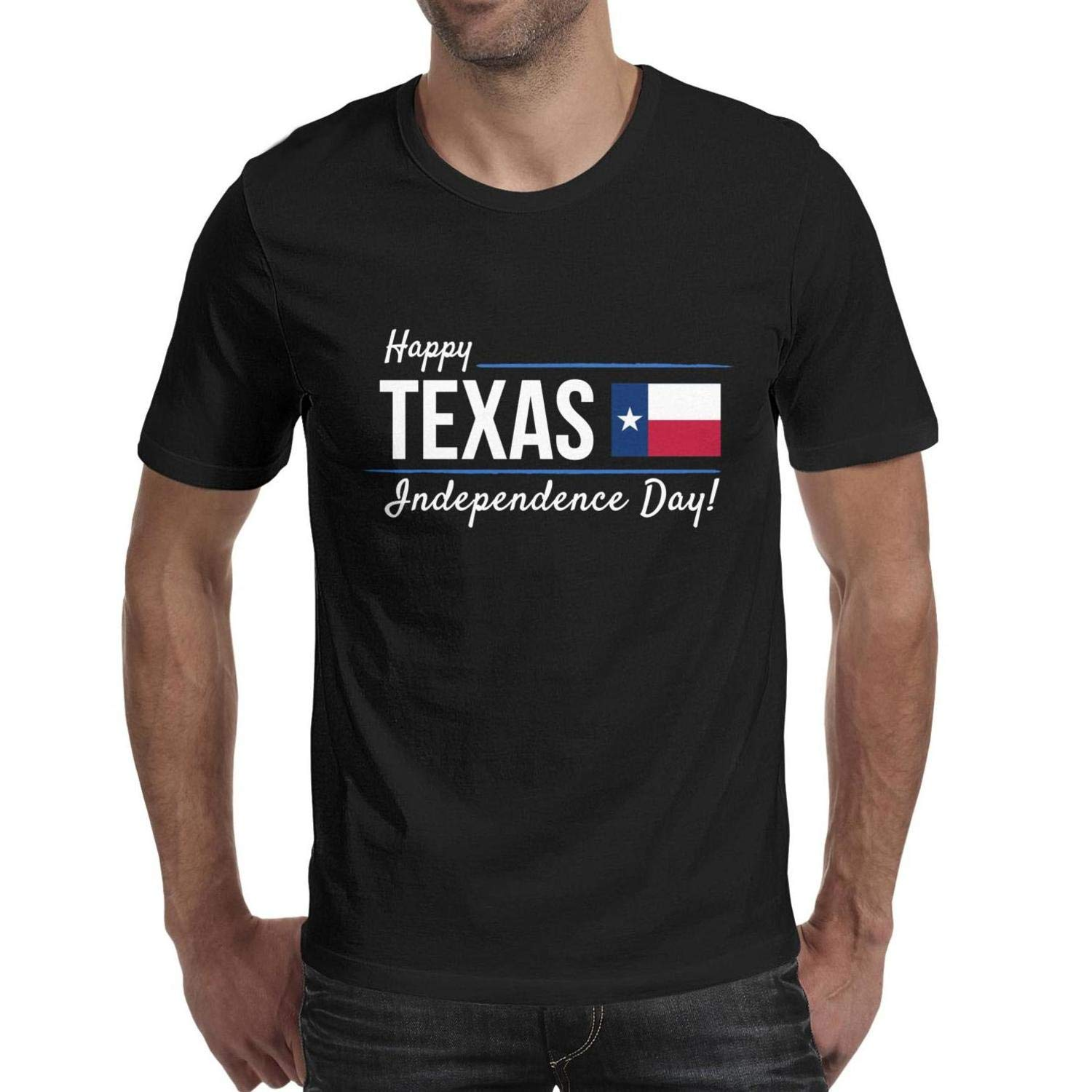 LOSE Tee Happy Texas Independence Day god Bless Texas Adult Designer Short Sleeve Wandering T Shirt