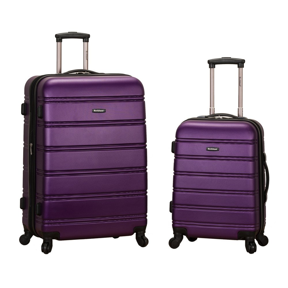 Rockland 20 Inch 28 Inch 2 Piece Expandable Abs Spinner Set, PURPLE