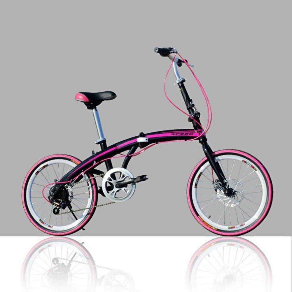大人 折りたたみ自転車, 学生折りたたみ自転車 U8 男女 折りたたみ自転車 B07D322FYJ 20inch|紫の 紫の 20inch