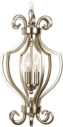Craftmade 7110BN3 Open Frame Pendant with Shades, Nickel Finish