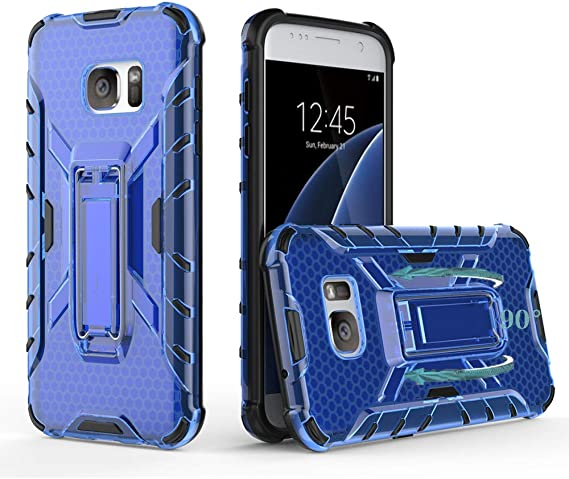 Slim Thin rose Galaxy S6 Case with Kickstand Heavy Duty Armor Hybrid Shock Absorption Scratch Resistant TPU Skin Silicone Full-body Protective for Samsung Galaxy S6
