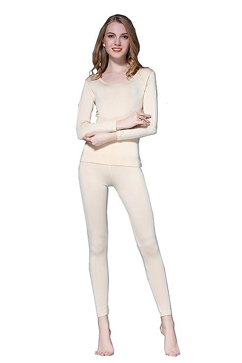 f479405467a3c Vinconie Women Thermal Underwear Set Base Layer Top & Leggings:  Amazon.co.uk: Clothing