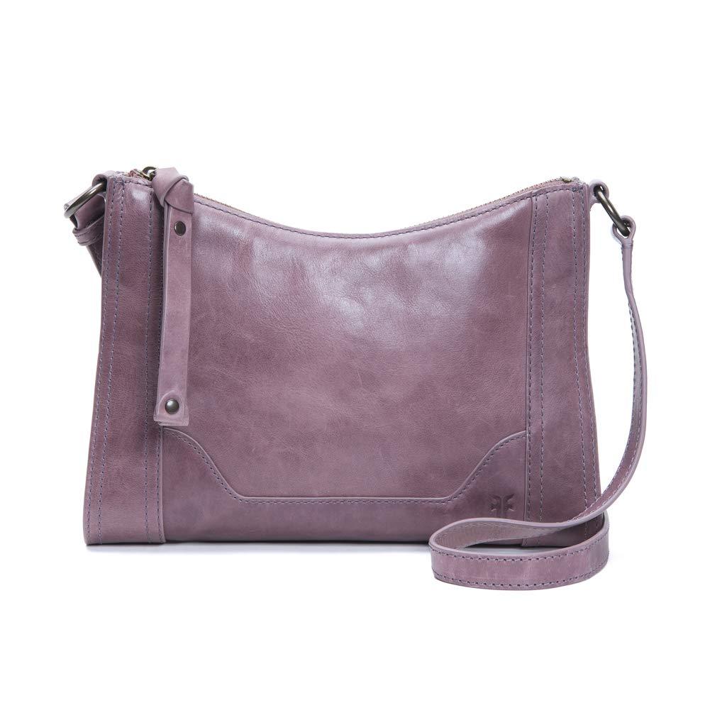 FRYE Melissa Zip Leather Crossbody Bag, lilac
