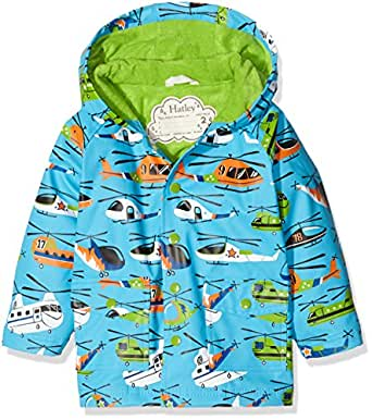 Hatley Little Boys' Classic Printed Raincoat, Helicopters, 2