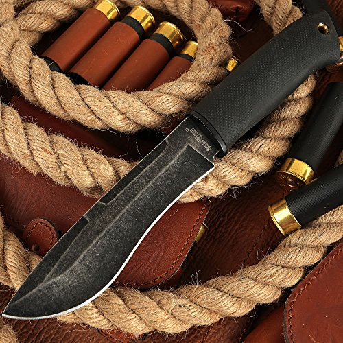 Tactical Knife - Survival Fixed Blade Knife - Best Outdoor Military Knives for Camping Bushcraft or Self Defense - Large Stainless Steel Blade Full Tang Handle Tactical Knife - Grand Way 2771 U-BQ by Grand Way (Image #1)