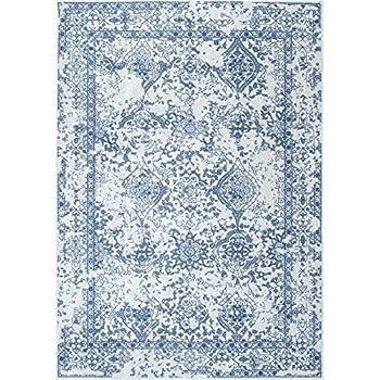 NuLOOM 200RZBD21B 406 Light Blue Vintage Odell Area Rug, 4u0027 X 6u0027, Light Blue