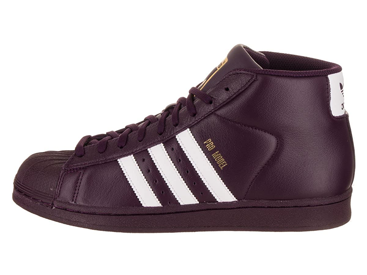 newest 894a7 cba56 Amazon.com   adidas Men s Pro Model, White Super Purple Gold Metallic, 8.5  M US   Fashion Sneakers