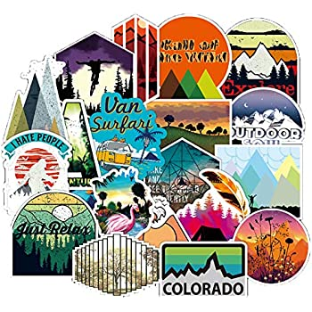 Amazon.com: Outdoor Nature Sticker Pack 100 Pcs Wilderness ...