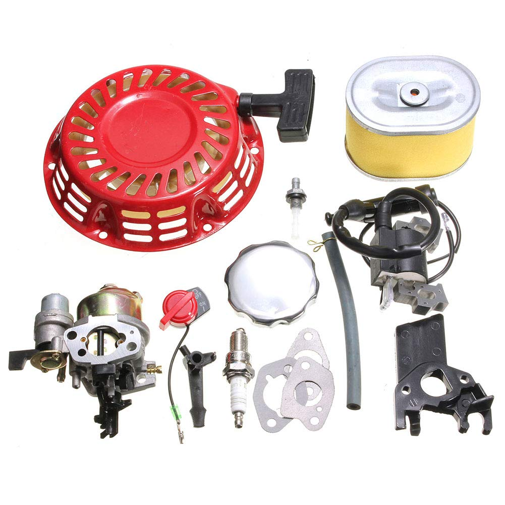 YUSHHO56T Air Filter Ignition System Filter Carburetor Recoil Ignition Coil Spark Plug Air Filter for Honda GX160 GX200