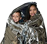 CadetBlue Waterproof Foil Blanket for Emergency Survival/Rescue in Extreme Weather Camping/Hiking/Trekking [SF054]