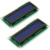 HiLetgo® 2pcs 1602 Serial LCD Module Display With Blue Backlight HD44780 Controller Character for Arduino Uno R3 Mega 2560