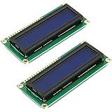 HiLetgo® 2個セットDC 5V HD44780 1602 LCD ディスプレイモジュール 16×2キャラクタ LCDブルーブラックライト [並行輸入品]