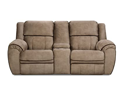 Amazon.com: Transitional Double Motion Reclining Loveseat ...