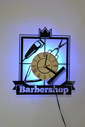 Barbershop Ornament Design Wall Light Wall Lamp Car Original Home Interior Decor Night Light Function Perfect Gift Blue