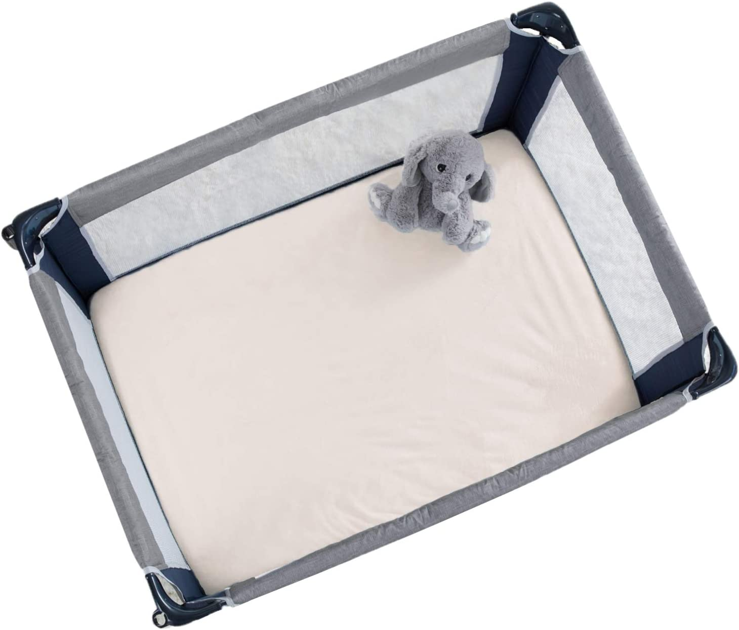 27 x 39 Navy American Baby Company Heavenly Soft Chenille Fitted Pack N Play Playard Sheet