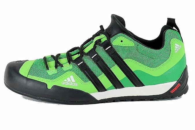 Adidas Terrex Swift Solo Shoe - Real Green   Black   Ray Green 10.5   Amazon.co.uk  Shoes   Bags 25d0d5324