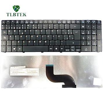 TLBTEK Teclado Original Español para Acer 5741 5810 5536 5738 5810T 7750 5735 E442 E640 5242