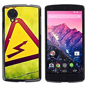 Hot Style Cell Phone PC Hard Case Cover // M00102868 photos voltage high // LG Nexus 5