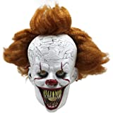 Halloween Mask Creepy Scary Clown Full Face Horror 2019 Movie Joker Costume Party Festival Cosplay Prop Decoration for…