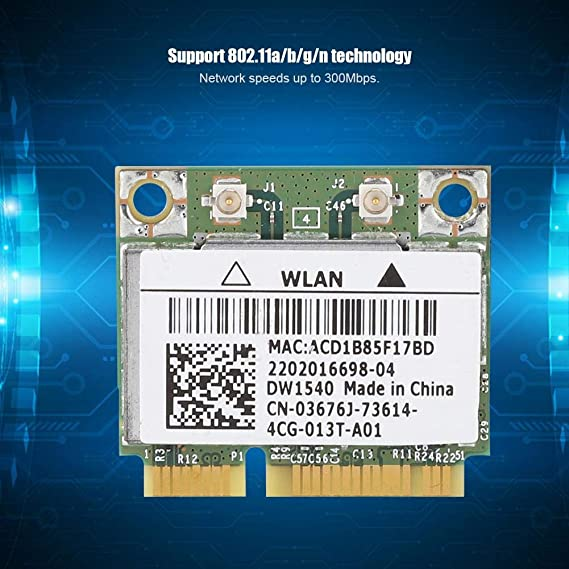 Mini 300Mbps 2.4//5 GHz Dual-Band PCI-e WiFi Card 802.11 a//b//g//n for Windows 2000//XP//VISTA//7 Wireless Network Card for Dell Broadcom BCM943228HM4L DW1540