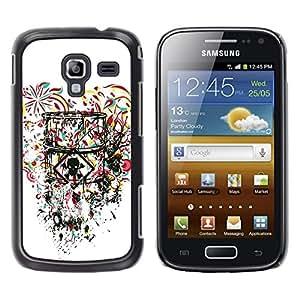 LASTONE PHONE CASE / Diseño de Delgado Duro PC / Aluminio Caso Carcasa Funda para Samsung Galaxy Ace 2 I8160 Ace II X S7560M / Toxic Love Heart