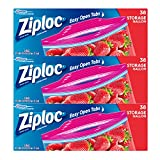 ziploc bags 2 gallon slider - Ziploc Storage Bags, Gallon, 3 Pack, 38 ct