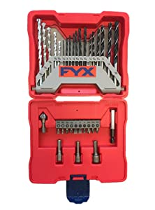 FYX Household Drill and Drive Mixed Set for Wood, Metal and Masonry (33 pcs)