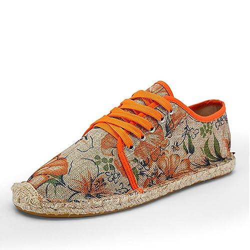 Zapatos De Hombre De Encaje Alpargatas Lona CáñAmo Zapatos De Cuerda Masculina Transpirable Calzado: Amazon.es: Zapatos y complementos