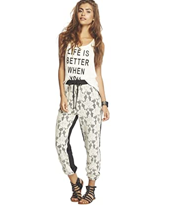 Wet Seal Womens Lace Front Jogger Pants L Black At Amazon Womens
