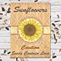 25 Individual Seed Favor Packets (Sunflowers) Great For Weddings!