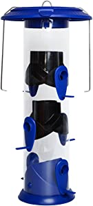 Nature's Way Bird Products WPFFB-19 Funnel Flip Top Tube Feeder, Blue