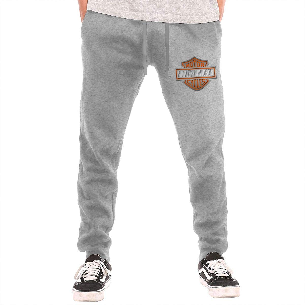 HoodCup Harley?Davidson Mens Sweatpants Gym Athletic Pants Sport Joggers Workout Sweat Pants