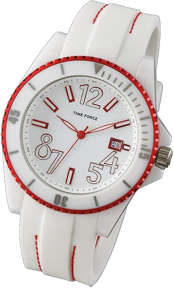 Time Force Reloj Analógico para Mujer de Cuarzo con Correa en Caucho TF4186L05